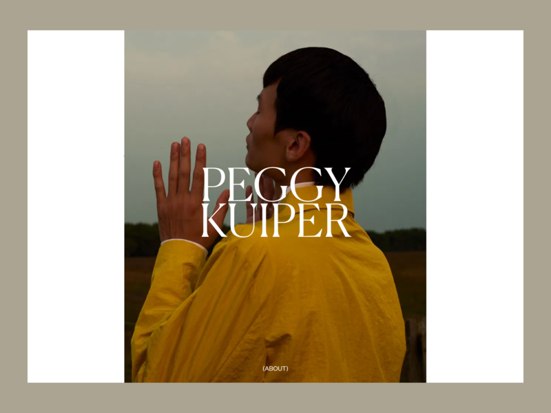 Peggy Kuiper concept teaser site photography editorial website art direction art ux typography ui design
