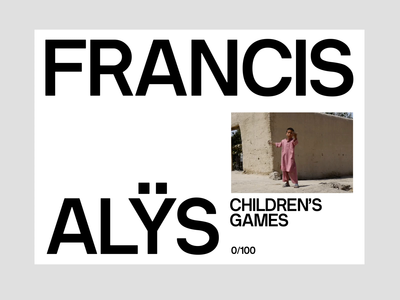 Francis Alÿs, Portfolio N°1 – Motion exhibition gallery portfolio francis alys after effects displace type motion design motion site magazine photography editorial website art direction art ux ui typography design