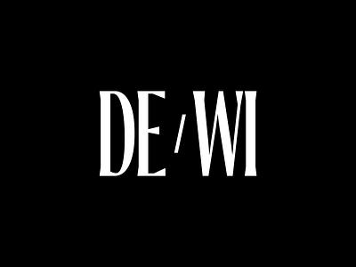 DE/WI, Logo simplicity minimal branidentity brand design brand identity branding identity design idenity typeface type art direction art editorial typography branding logo