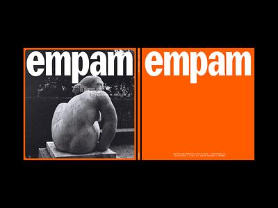 EMPAM type label electronic minimal artwork vinylrecord logo photography art typography design branding art direction