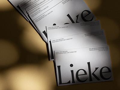 Lieke van der Wel – Cards simplicity blackwhite type printing business cards cards print branding photography editorial art direction art typography design