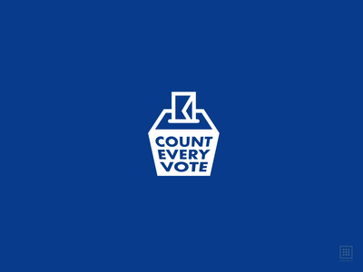 Count Every Vote election 2020 boxed animation illustrator logo