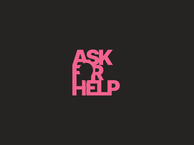 Ask For Help mental health awareness suicide prevention mentalhealth illustrator brand logo