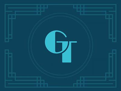 Art deco 'GT' emblem artdeco illustrator logo