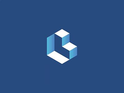 Isometric 'L' Logo 3d isoemtric branding illustrator brand logo