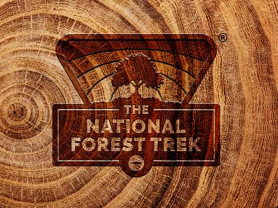 National Forest Trek forest illustrator brand logo