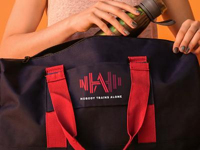 Nobody Trains Alone gym logo personal trainer personal brand gym branding illustrator brand logo