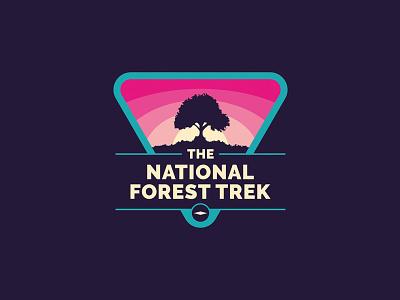 National Forest Trek cartography website branding brand logo