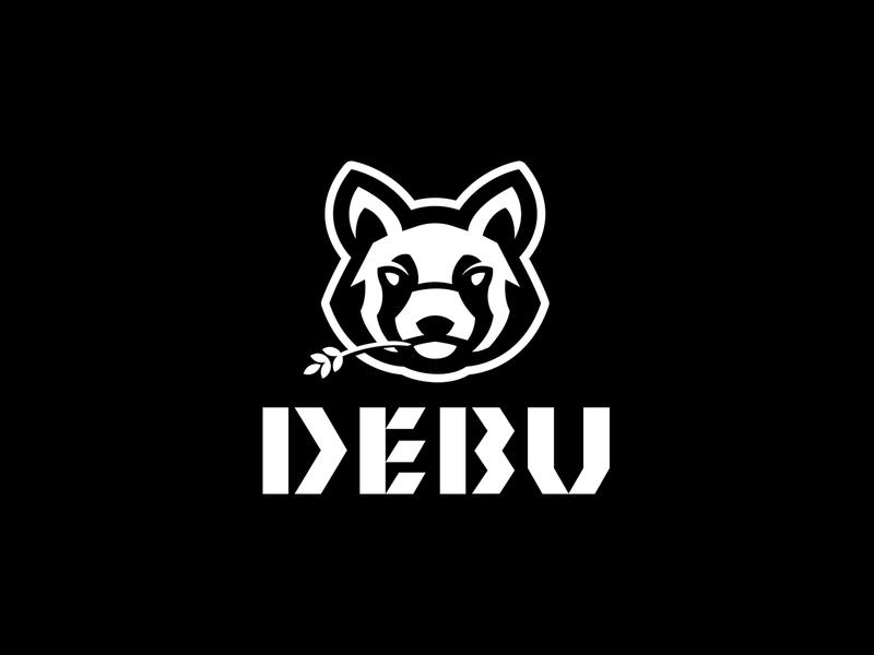 DEBU bear logo singer logo animal logo panda logo bear red panda