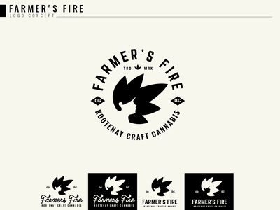 Farmer s Fire badgelogo stamp womenlogo cbd logo cannabis logo