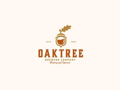 Oaktree brewing acorn logo beer beer logo oak leaf oaklogo oak