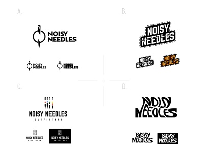 Noisy needles noisy wordmark wordmark logo embroidery business logo needles embroidery logo needle logo