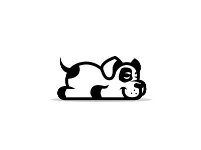 Lazy dog sleep logo animal logo dog cartoon dog dog logo