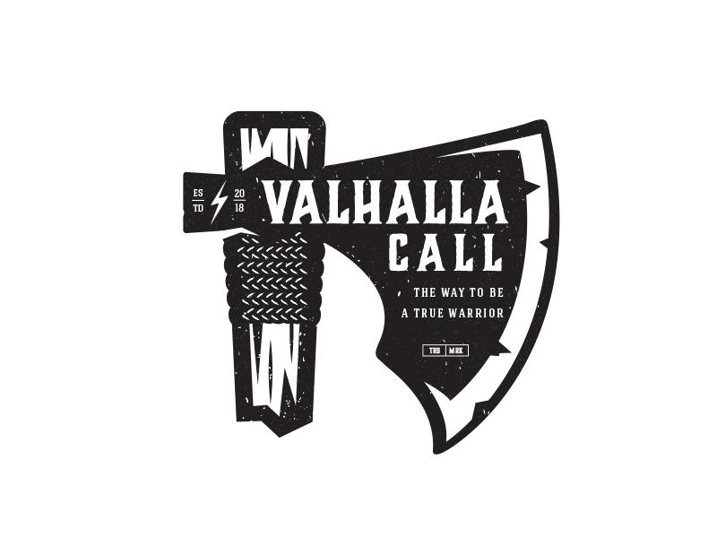 Valhalla war logo viking valhalla warrior ax