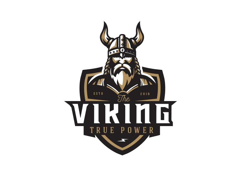 Viking beard viking logo logo odin horns warrior helmet viking
