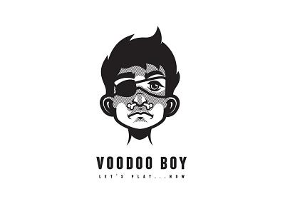 Voodoo Boy black magic magic bone boy voodoo logo