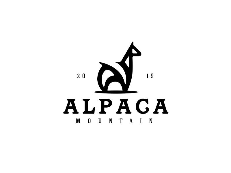 Alpaca Mountain wild minimal logo animal alpaca logo lama logo alpaca