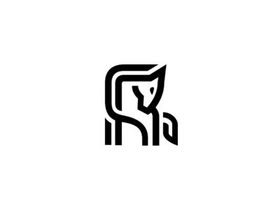Minimal Horse line logo line animal minimal logo horse logo horse