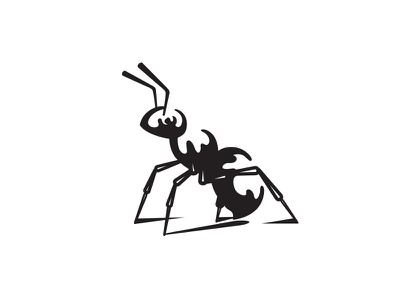 Ink Ant insect ink logo animal ant logo ant
