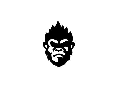 Flaming monkey gorilla wild logodesign logo animal monkey logo monkey