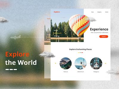 Landing Page landingpage travelsite tourism design uxdesign uiuxdesign website
