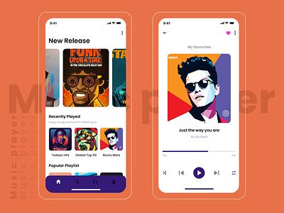 Music Player music app design ui app uxdesign uiuxdesign