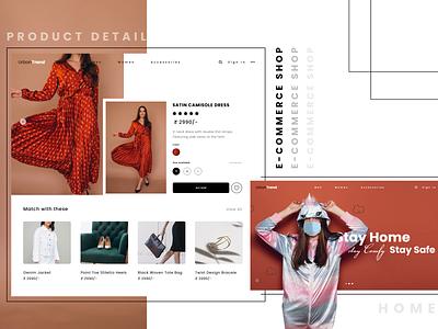 E-Commerce Shop landingpage design ui uxdesign uiuxdesign