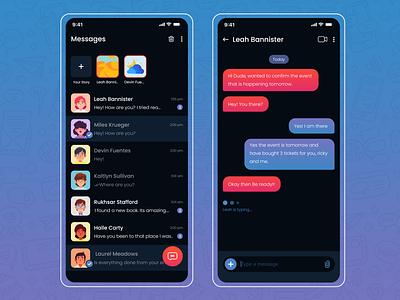 Direct Messaging App chatbox messaging app design ui app uxdesign uiuxdesign