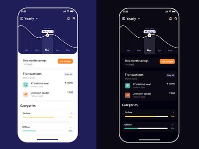 Money Manager App UI money moneymanager design app ui illustration uxdesign uiuxdesign