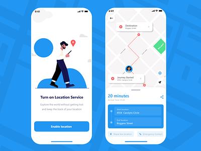 Location Tracker📌 locationapp location tracker location design ui app uxdesign uiuxdesign