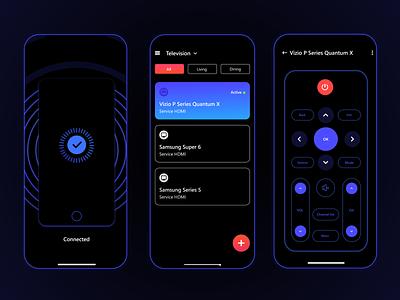 Smart Device Remote Control App design ui app uxdesign uiuxdesign smartremote smartdevice smartapp smart