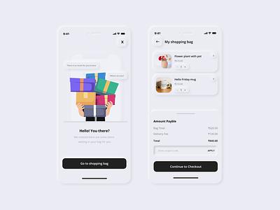 Shopping Cart uxdesign design ui app neumorphism uiuxdesign