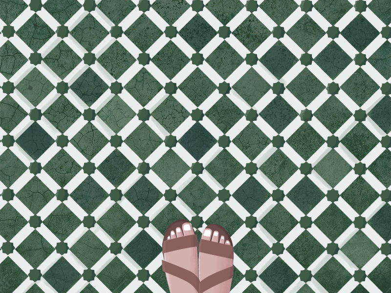 Piesitos en Marrakech Morocco  sandals african tile marrakech morocco pies feet