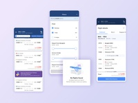 Flight app search results