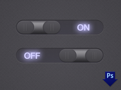 Midnight Toggle Switches ui toggles radios freebee psd