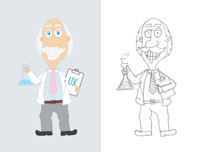 The UX Professor illustration ux