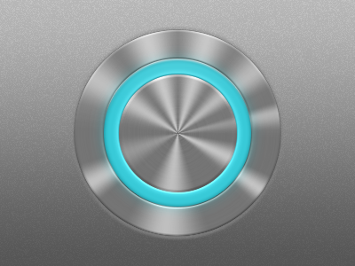 Circular LED Push Button button ui