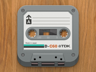 TDK Cassette Icon ios app icons tape casette