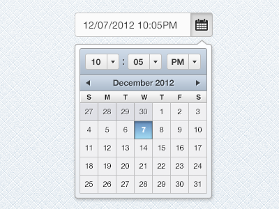 Date picker Concept date time date picker ui