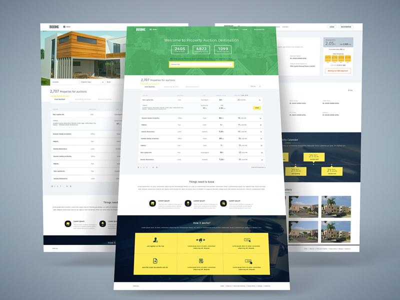 Property Auction bidding property auction homepage uiux