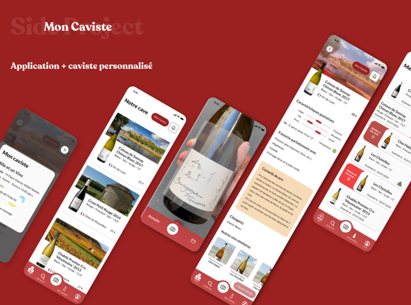 Mon Caviste project winetech wine ui product illustration french creation redesign cards ux design