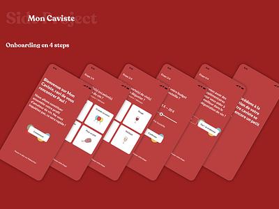 Mon Caviste Project application winetech wine onboarding ux design illustration ui creation redesign ux design