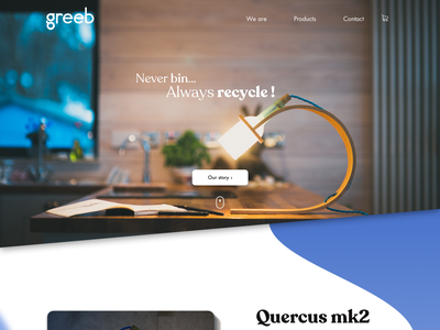 Quercus project home website ui creation redesign ux design