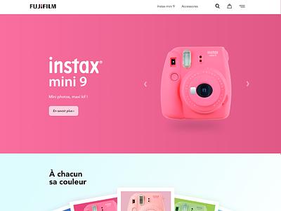 Instax mini 9 french uxdesign uidesign website ui creation redesign ux design