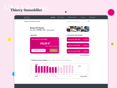 Real estate redesign   Thierry Immobilier french uxdesign uidesign website ui creation redesign ux design