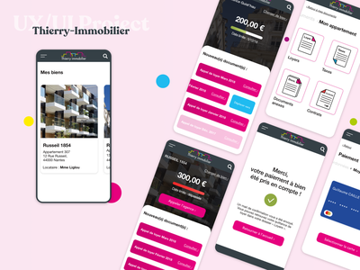 Real estate redesign   Thierry immobilier mobile realestate real estate mobile cards french uxdesign uidesign ui creation redesign ux design