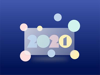 Happy New Year 2021 glassmorphism creation website french uidesign ui 2021 new year