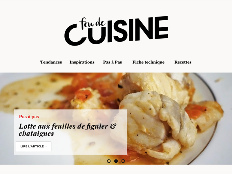 Design Of A French Food Magazine Fou De Cuisine By Guillaume