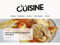 """Design of a french food magazine """"Fou de Cuisine"""""""