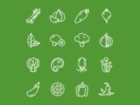 食材线性图标
